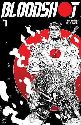 Bloodshot (2019) #1 Cover D B&W & Red Valiant Entertainment 9/24/2019 Casedsr