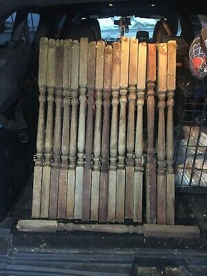 VTG ANTIQUE Baluster Wood Architectural Salvage Spindle Porch Post Stairway Rail
