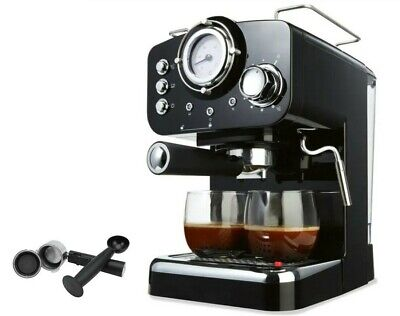 Espresso Coffee Machine Adjustable Steam Knob and High Pressure Milk Frothing