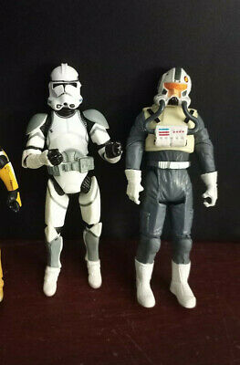 Star Wars Clone Trooper Lot 3.75 inch Hasbro action figures