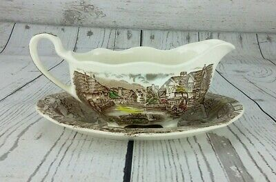 Johnson Bros Olde English Countryside Gravy Boat Underplate Relish