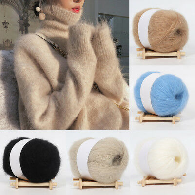 Soft Mohair Cashmere Wool Yarn Hand Knitting Woven for Sweater Scarf Hat Supply