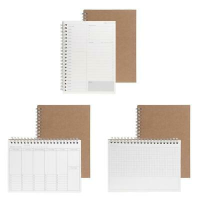 Planner Book Monthly Weekly Daily Agenda Schedule Blank Diary Study Notebook
