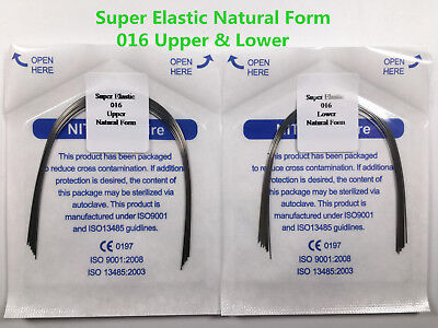 016 U/L Natural Dental Super Elastic Wires Round Orthodontic Arch Wire *20 Bags