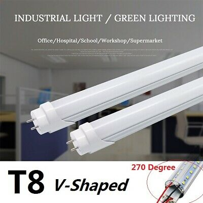 4X G13 T8 36W Led V-Shaped 4ft 1200mm Milky 6500K Fluorescent Replacement Bulbs