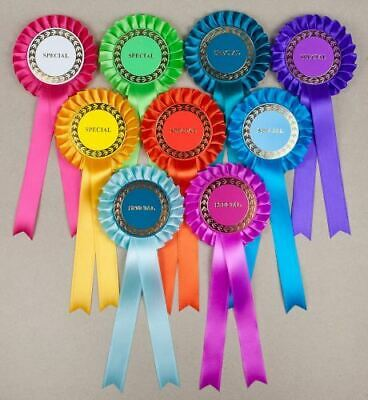 Classic 1-Tier Rosettes 10 Asstd, Special/Clear Round/Well Done