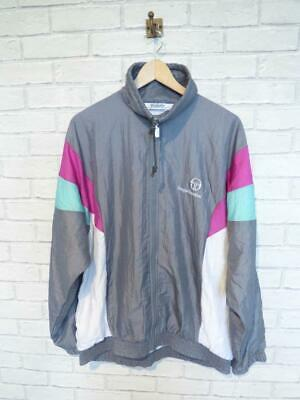SERGIO TACCHINI Vtg Shell Suit Jacket Top Festival Tracksuit Windbreaker #D5481