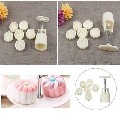 3D 6Style Stamps Round Letter Moon Cake Mold Mould White Mooncake LZ Decor U9M8