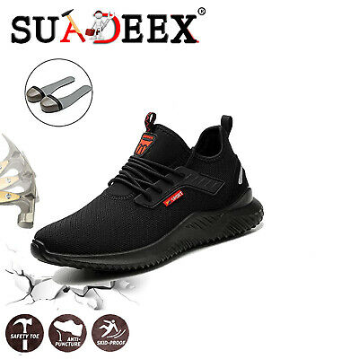 Mens Safety Shoes Steel Toe Cap Sports Work Shoes Protective Footwear Trainers