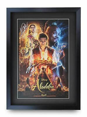 Aladdin Signed Pre Printed Autograph Poster Gift For a Will Smith Fan