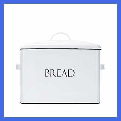Vintage Metal Bread Bin Countertop Space Saving Extra LARGE High Capacity Storag