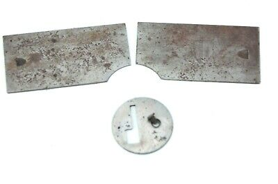 SINGER finger / needle covers plates from a 1892 model,s/n 10751421