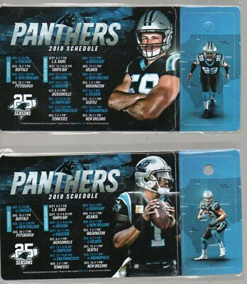 2 - Carolina Panthers 2019 Magnetic Schedules With Keychain Schedule