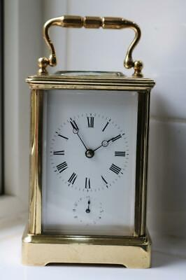 RARE ANTIQUE FRENCH CARRIAGE CLOCK with ALARM on a BELL by DEJARDIN c1888