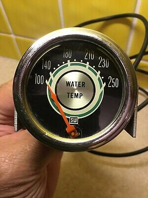 Stewart Warner Vintage Water Temp Gauge Muscle Car Rat Rod Ford Mopar