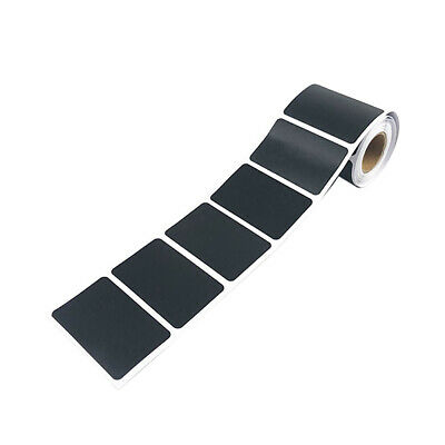 1 Roll 150pcs High Quality Kitchen Labels in Matte Black for Pots and Blank UK