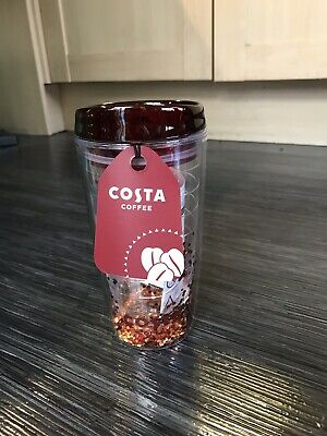 Costa Coffee Glitter Travel Mug Tumbler Cup Insulated