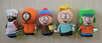 South Park Plush Doll Set Kyle, Kenny, Eric, Chef, & Butters Comedy Central