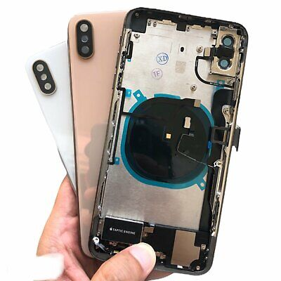 New Back Glass Housing Cover Frame Assembly for iPhone X XS XR Max W/Logo USA