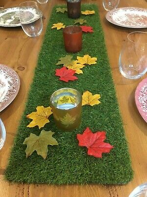 Decorative Grass Table Runner Artificial Wedding Decoration 1.5m Fun Party