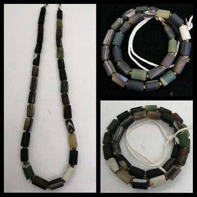 Old Roman Ancient  Agate Black Agate Beads Mixed Nacklaces Have Mixed Colors