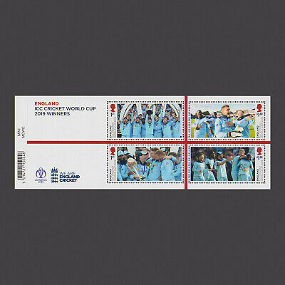 2019 England ICC World Cup 2019 Winners Miniature Sheet with Barcode
