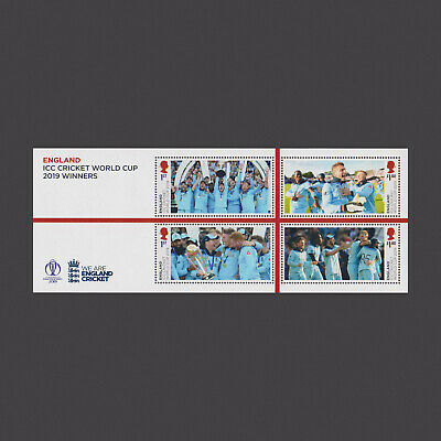 2019 England ICC World Cup 2019 Winners Miniature Sheet without Barcode