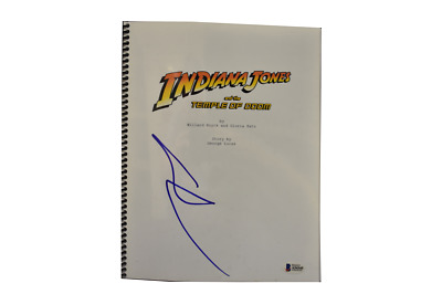 George Lucas Signed Indiana Jones And The Temple Of Doom Script Auto Beckett Loa