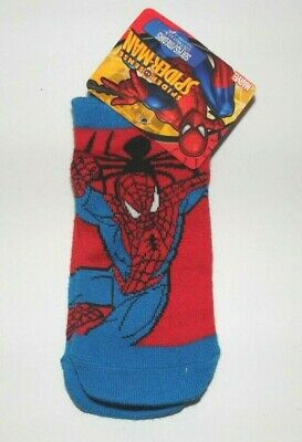 Marvel Toddler Boys Spiderman Socks 1 Pair Red Blue Size 6.5-8 NWT