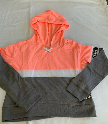 Nwt Justice Girls Gymnasts Sports Colorblock Hoodie Size 8