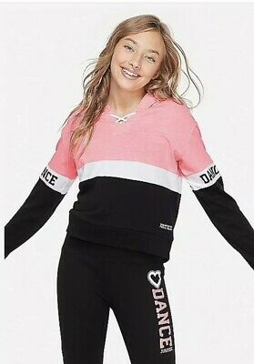 Nwt Justice Girls Dance Sports Colorblock Hoodie Size 7