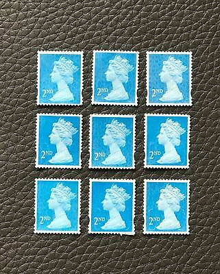 200 X 2nd Class Royal Mail Stamps Unfranked Off Paper USED 1st Postage GRADE A
