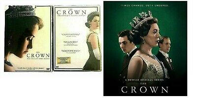 The Crown: Complete Seasons 1-2  (DVD, 2018, 8-Disc) Brand New Free Shipping