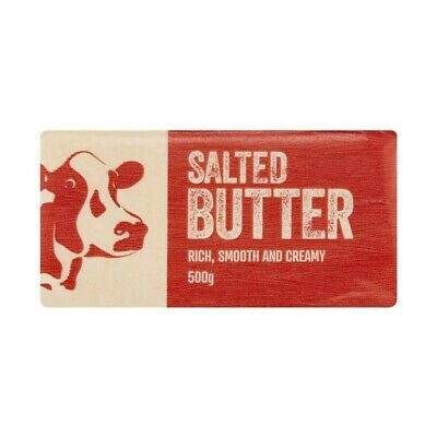 NEW Coles Rich Smooth & Creamy Tasty Baking Spreadable Butter Salted Block 500g