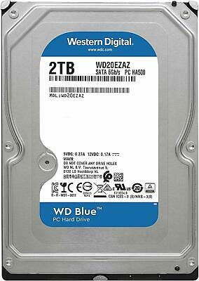 "Western Digital 2TB SATA 3.5"" HDD WD Blue 5400RPM 256MB Internal Hard Disk Drive"