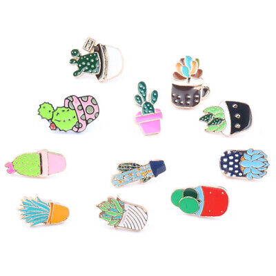 Lovely Cartoon Cactus Enamel Brooch Pins Corsage Coat Lapel Badges Jewelry Gift