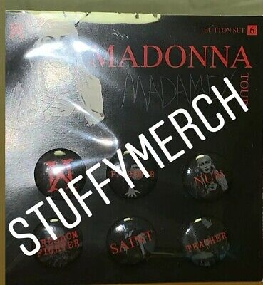 Madonna Official Madame X 2019 Tour Pins Buttons Rare Limited Edition From Bam