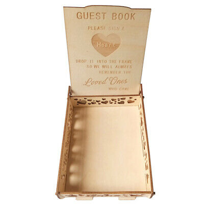 1pc Wooden Guest Book Signature Visitors Book Notebook Message Sheet for Wedding