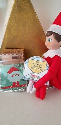 Elf -shelf Christmas PARTYgift BOX PROP-bag card for doll-toysweets FOR ELF DOLL