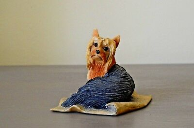 Border Fine Arts Yorkshire Terrier  Lying on a Rug  Collectable Hand Made