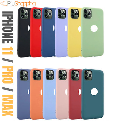 Custodia Cover In Silicone Gel Tpu Per Apple Iphone 11 / Pro / Max Slim Colori
