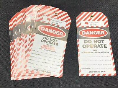 200 Mixed Danger Do Not Operate Tag - Double Sided