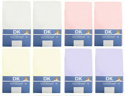 DK Glovesheets GOTS Certified 100/% Organic Cotton Fitted Crib Sheets 84x36cm