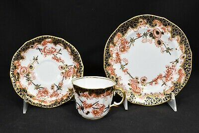 Royal Crown Derby 2649 c.1896 One Cup & Saucer & One Salad Plate