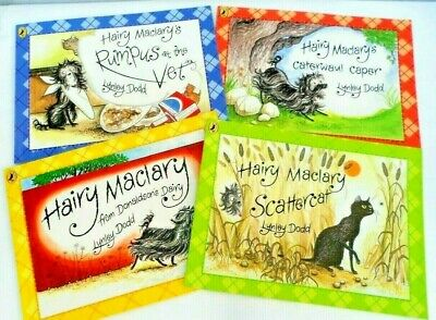 Hairy Maclary Book Bundle - 4 books - Lynley Dodd - Dairy,Vet ,Caper,Scatter VGC