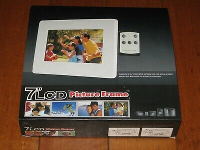 7 Inch LCD Digital Picture Frame + Remote - Photo - Electronic - Boxed - VGC
