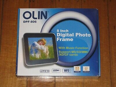 Olin 8 Inch Digital Photo Frame + Remote - Picture - Electronic - Boxed - VGC