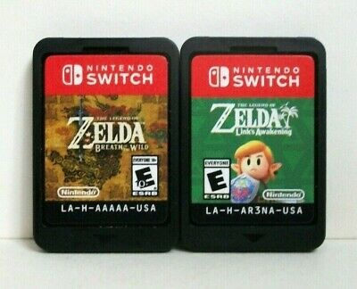 Zelda Breath of the Wild Link's Awakening Nintendo Switch Games Lot Legend Links