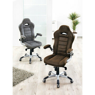 Executive chair Computer Desk Office chair Racing arm rests brown adjustable
