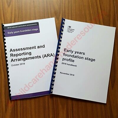 2019 EYFS Early Years Foundation Stage Profile Handbook + ARA Assessment & repor